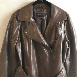 Giacca Leather Women's Coat 1X